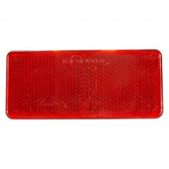 Rectangle-Reflector 90x40 mm, red, edhesive