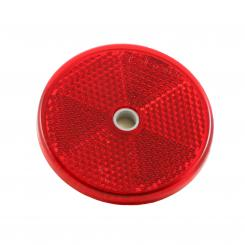 Reflector, round / 60 mm - red