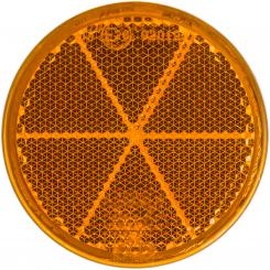 Reflector, round, 60 mm yellow