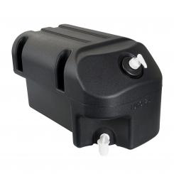Water tank 25, Polyethylene, black, with soap-dispenser and tap