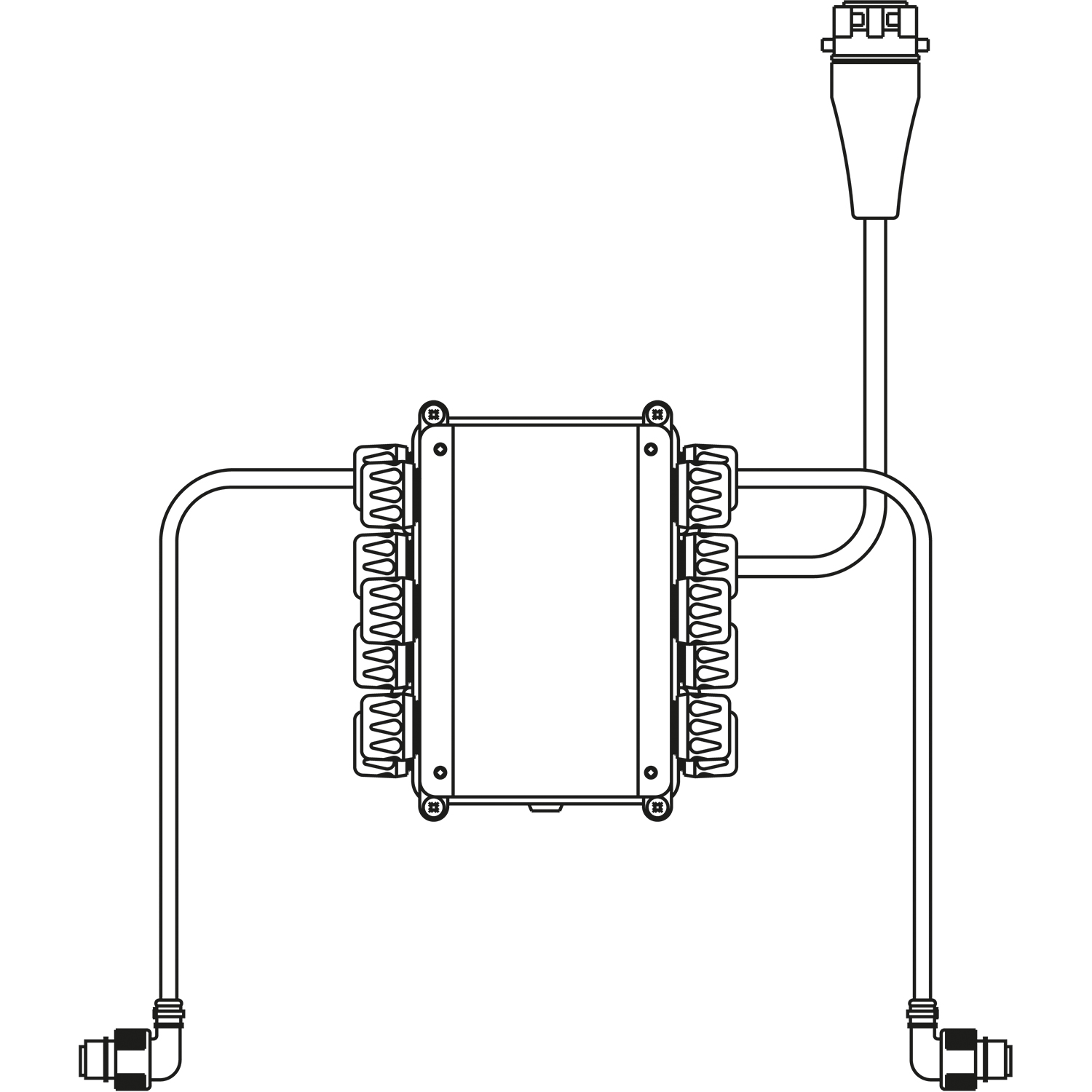 Distribution Box For Lighting System Ass1 Wabco Tce 24 V Diagram Of